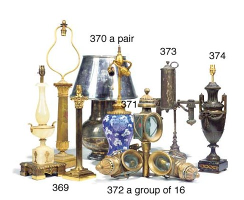 A group of sixteen brass wall