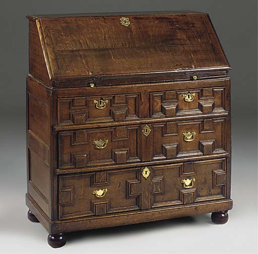 An English oak bureau