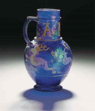 An enamelled dated cobalt-blue
