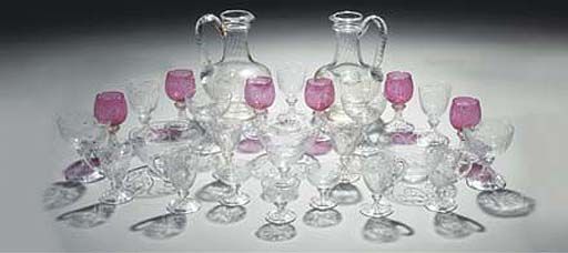 A 'rock crystal' style table s