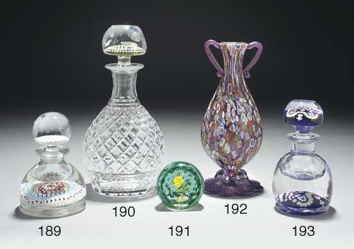 A Murano millefiori vase