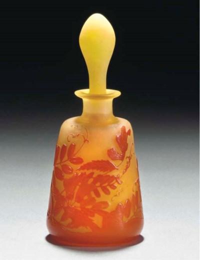 A CAMEO GLASS FLACON