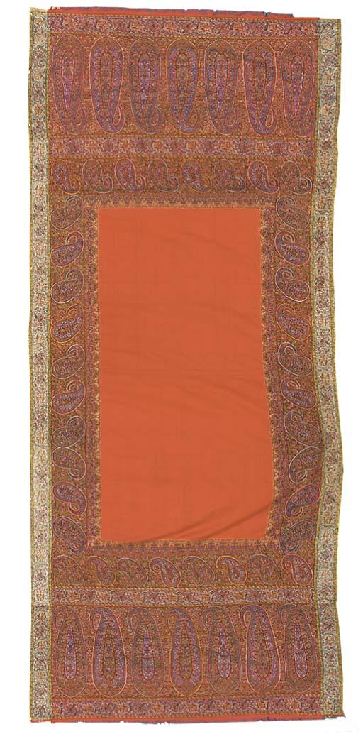 A long jamawar shawl, woven wi
