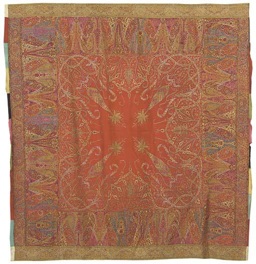 A square jamawar rumal shawl,