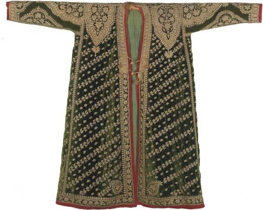 A nobleman's coat of emerald g