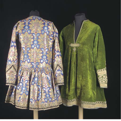 A robe of Ottoman style gilt b