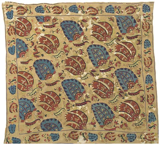 An embroidered bocha, worked i