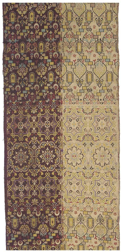 A wedding belt of figured silk