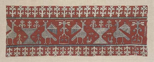 An embroidered border, worked