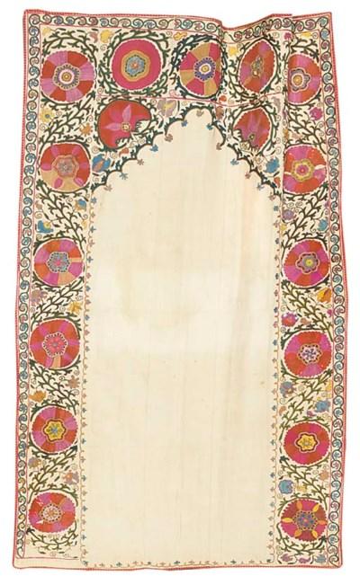 A prayer-arch susani, embroide