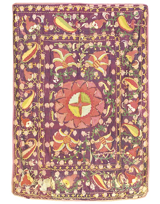 A silk susani, the ground of a