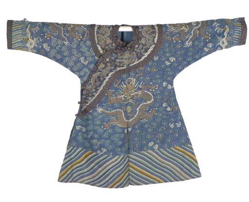 A child's court robe of blue s