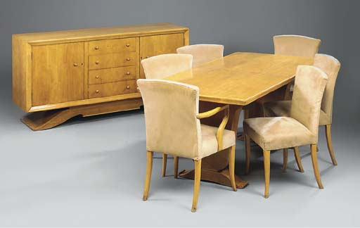 A BIRCH DINING SUITE