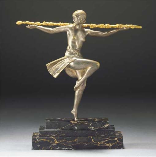 'DANCER WITH THYRSUS' A SILVER