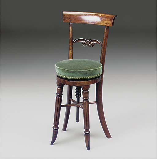 A rosewood music chair