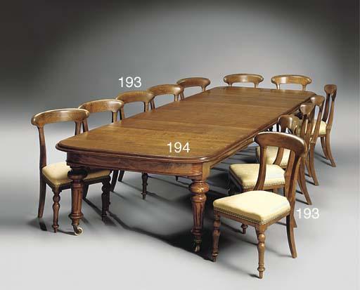 A set of late Victorian oak di