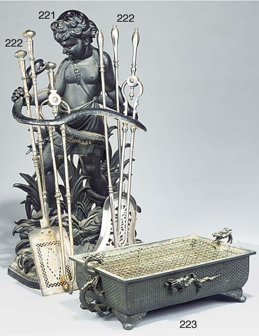 A Meiji bronze rectangular bon