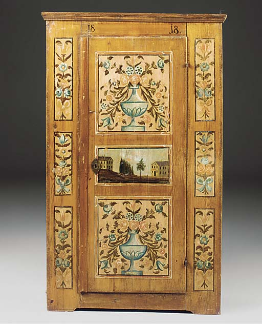 AN AUSTRIAN PAINTED ARMOIRE