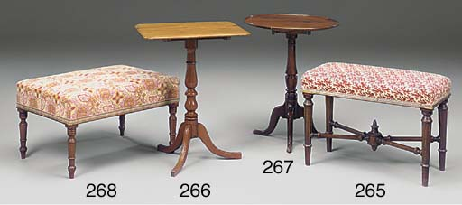 A late Victorian stool