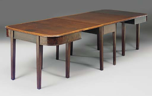A mahogany and crossbanded ext