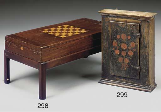 A mahogany and inlaid games ta