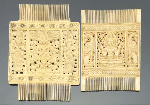 Two ivory combs, Probably Sout