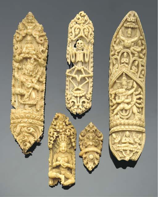 A group of bone priest's vestm