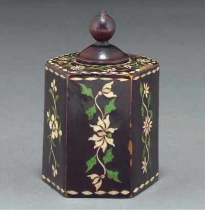 A lacquered and inlaid spice b