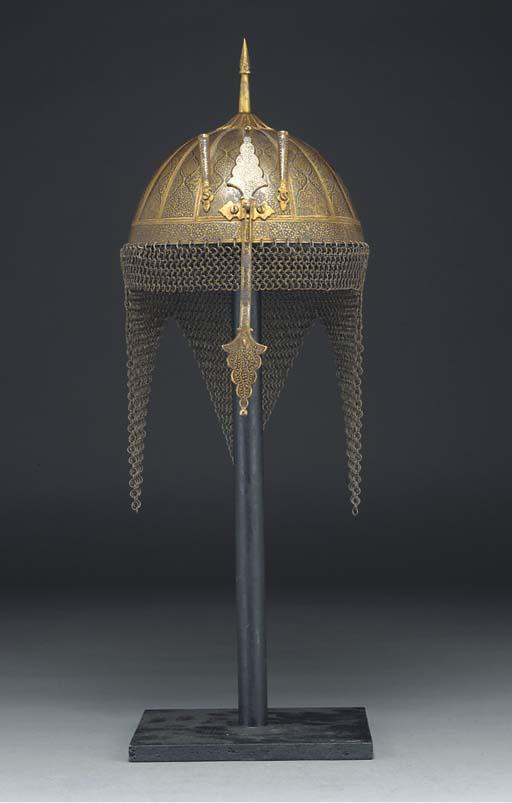 A damascened steel khula-khud,