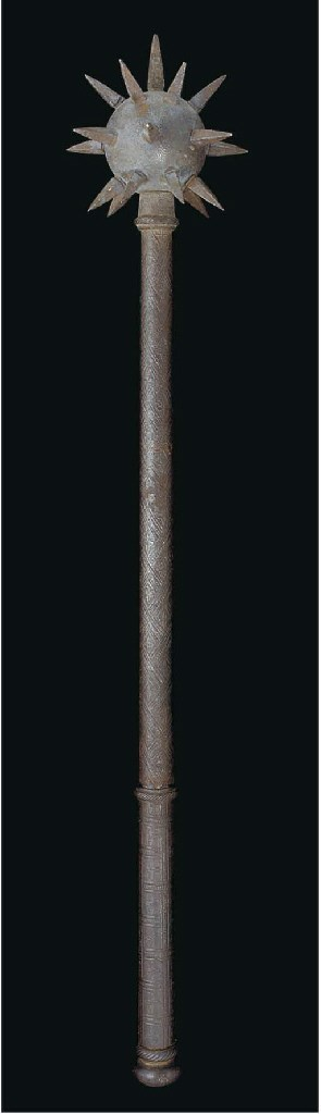 An iron mace, India, 19th Cent