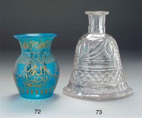 A cut glass hookah base, Irela