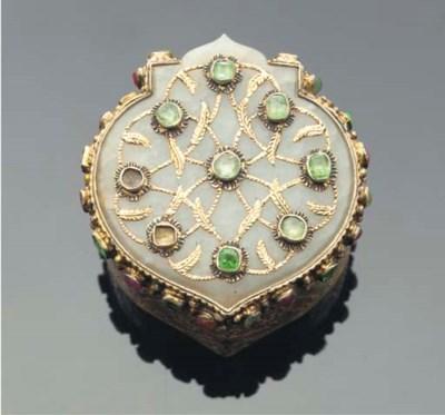 An Ottoman silver gilt jade in