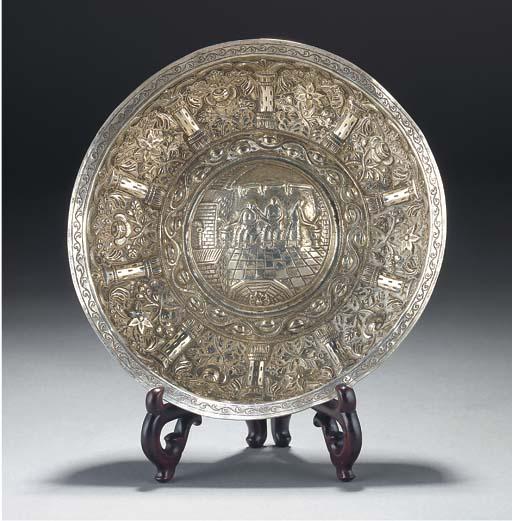 An Ottoman repousse silver bow