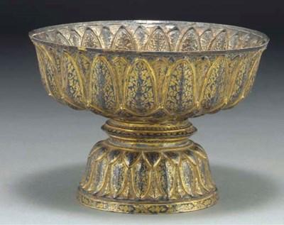 A silver gilt stembowl, Thaila