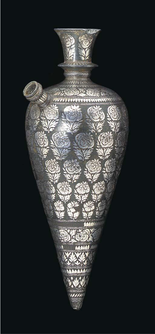 A Bidriware hookah, India, 19t
