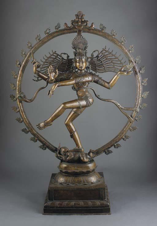 A massive bronze model of Shiv