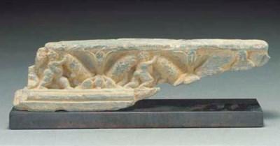 A Gandhara grey schist frieze