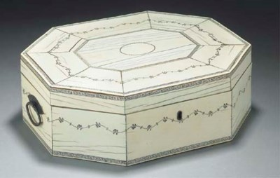 An ivory sewing box, Anglo-Ind