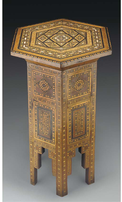 An Ottoman inlaid table, Turke