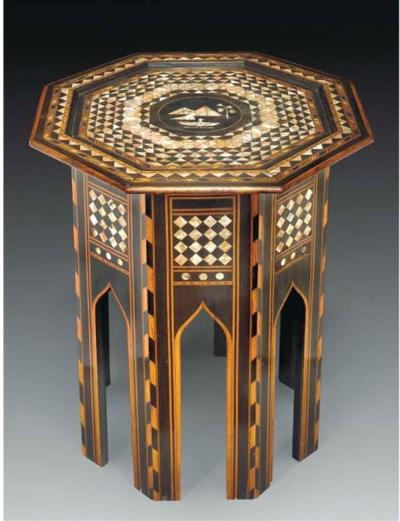 An Ottoman inlaid table, Turke