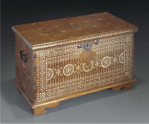 A Hoshiapur inlaid chest, 19th