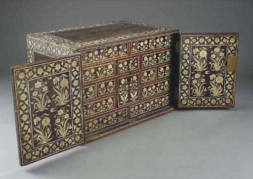 A large inlaid chest, India, 1