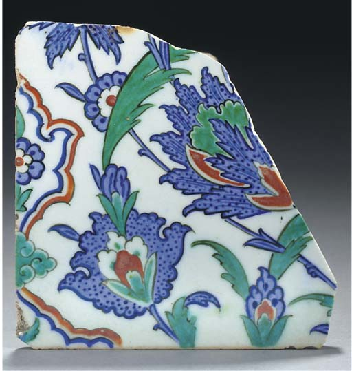 A group of Iznik tile fragment