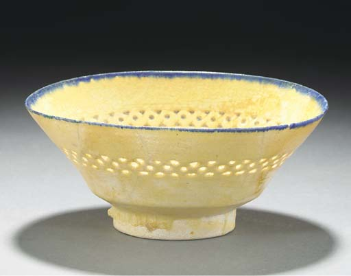 A Kashan pottery bowl, Central