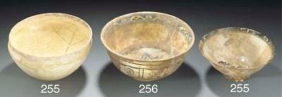 A Timurid glazed pottery bowl,