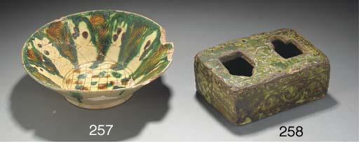 A Nishapur tang splashed potte