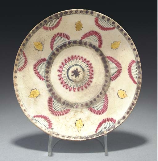 A Mughal polychrome painted sh