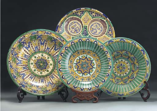 A group of four dishes, Morocc