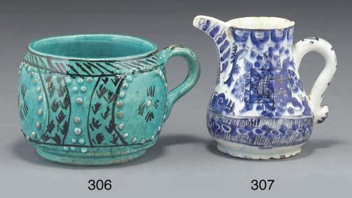 An Ottoman small Kuthaya blue