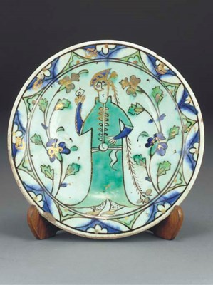 An Ottoman Iznik pottery glaze